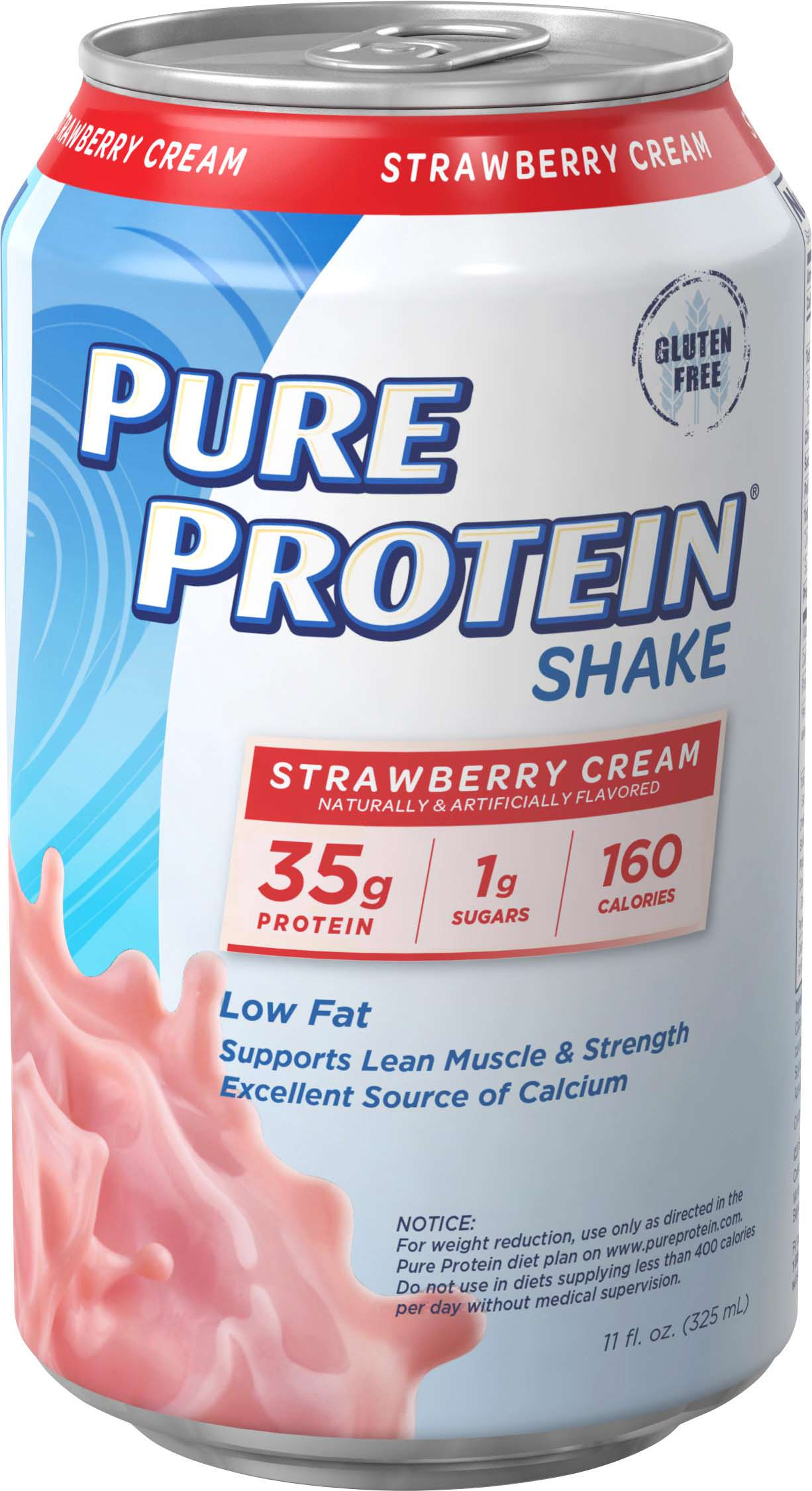Pure Protein 35g Shake Strawberry Cream 11 ounce 12