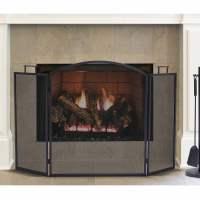 Pleasant Hearth Classic Fireplace Screen, Black - Walmart.com