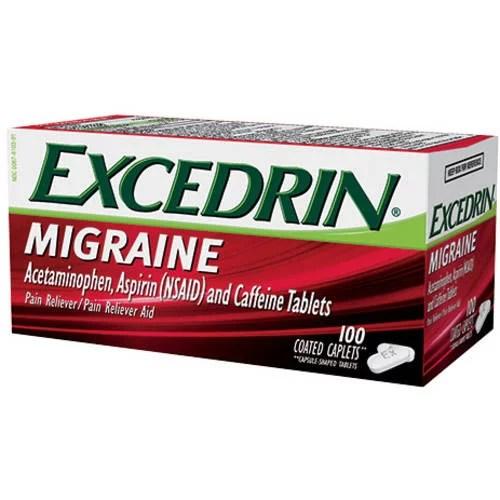 Excedrin Migraine Caplets 100ct - Walmart.com