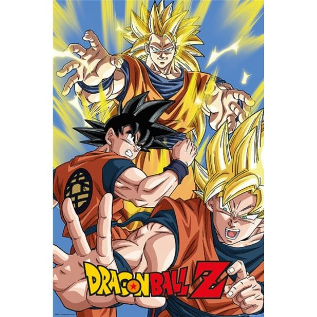 Gb Eye Xpe160446 Dragon Ball Z Goku Poster Print 44 24 X 36 Walmart Com Walmart Com