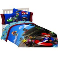 Super Mario The Race is On Twin / Full Comforter with ...