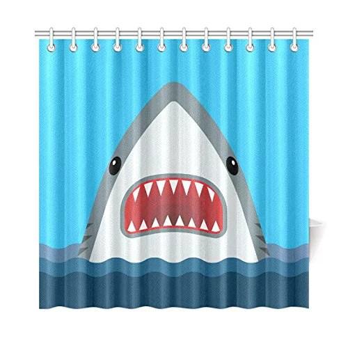 mkhert shark shower curtain home decor bathroom shower curtain 66x72 inch