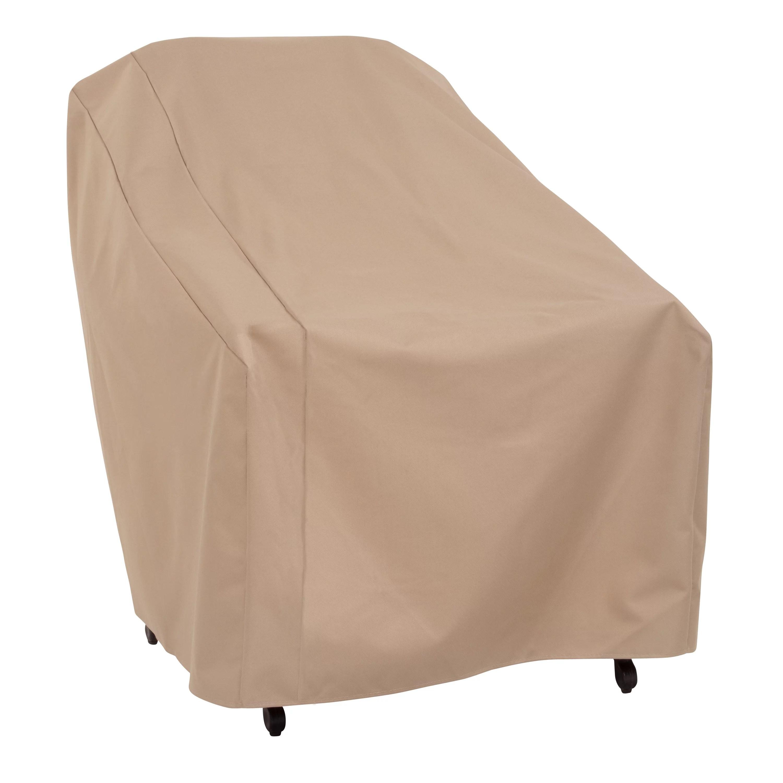modern leisure basics outdoor patio chair cover 34 l x 33 w x 31 h khaki
