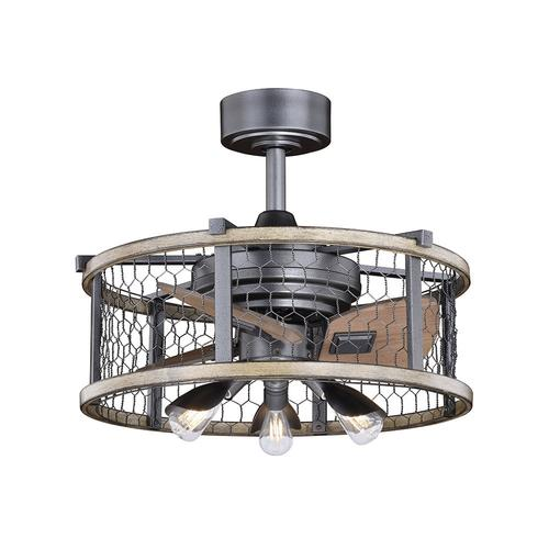 elegant home brooklyn 21 natural iron with distressed faux wood led outdoor fandelier walmart com