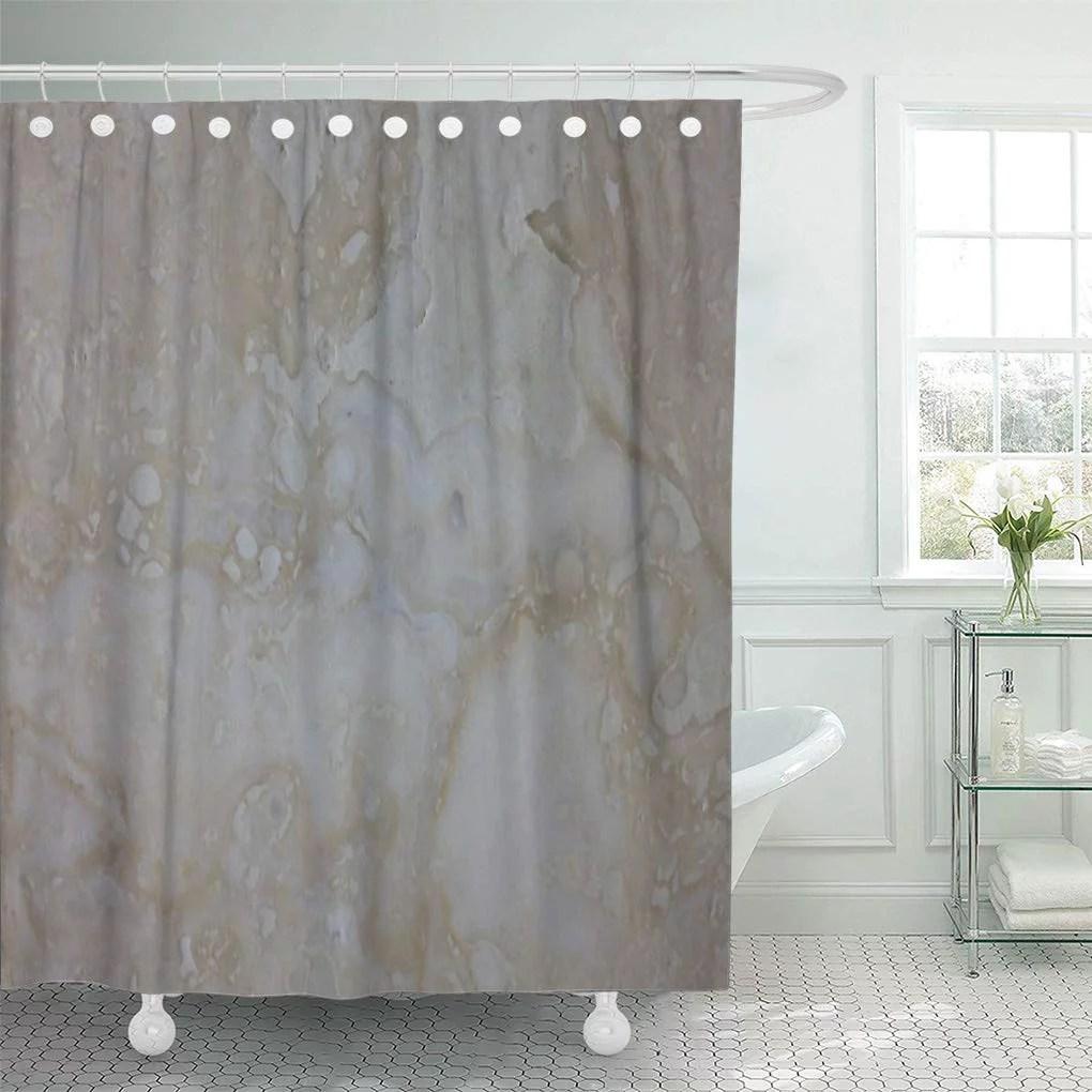 suttom rock stone look travertine limestone tuscan shower curtain 66x72 inch