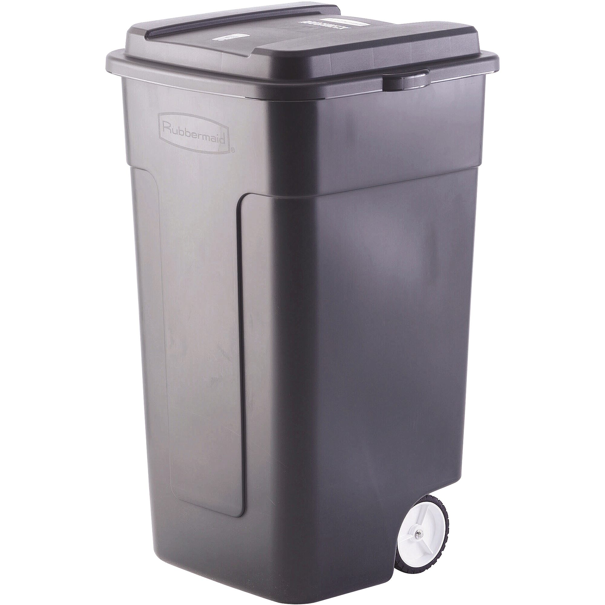 rubbermaid kitchen trash cans commercial cabinets 50 gallon wheeled roughneck trashcan black fg285100bla walmart com