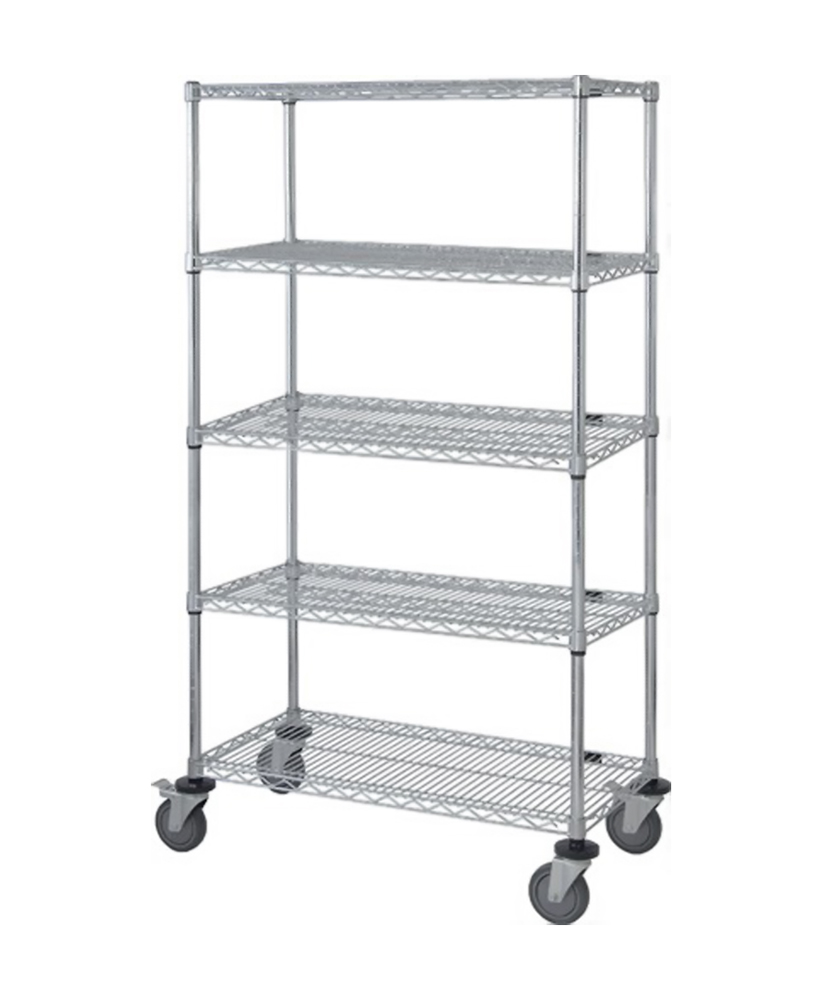 Quantum 5 Wire Shelf Mobile Cart 63