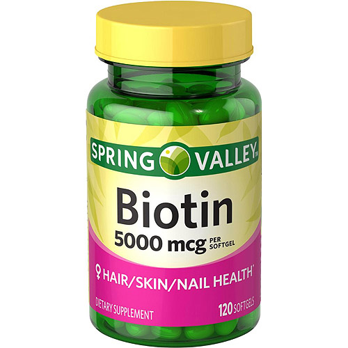 Spring Valley Biotin Softgels 5000 Mcg 120 Count