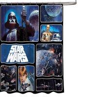 Star Wars Bathroom Set, Shower Curtain, Hooks, Bath Towel ...