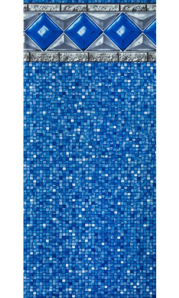 Smartline 15-foot-24-foot Oval Crystal Tile Unibead Above Ground Swimming Pool Liner - 48