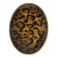 Mi Amore - Mi Amore Cheetah Print Crystal Sized-Ring Brown ...
