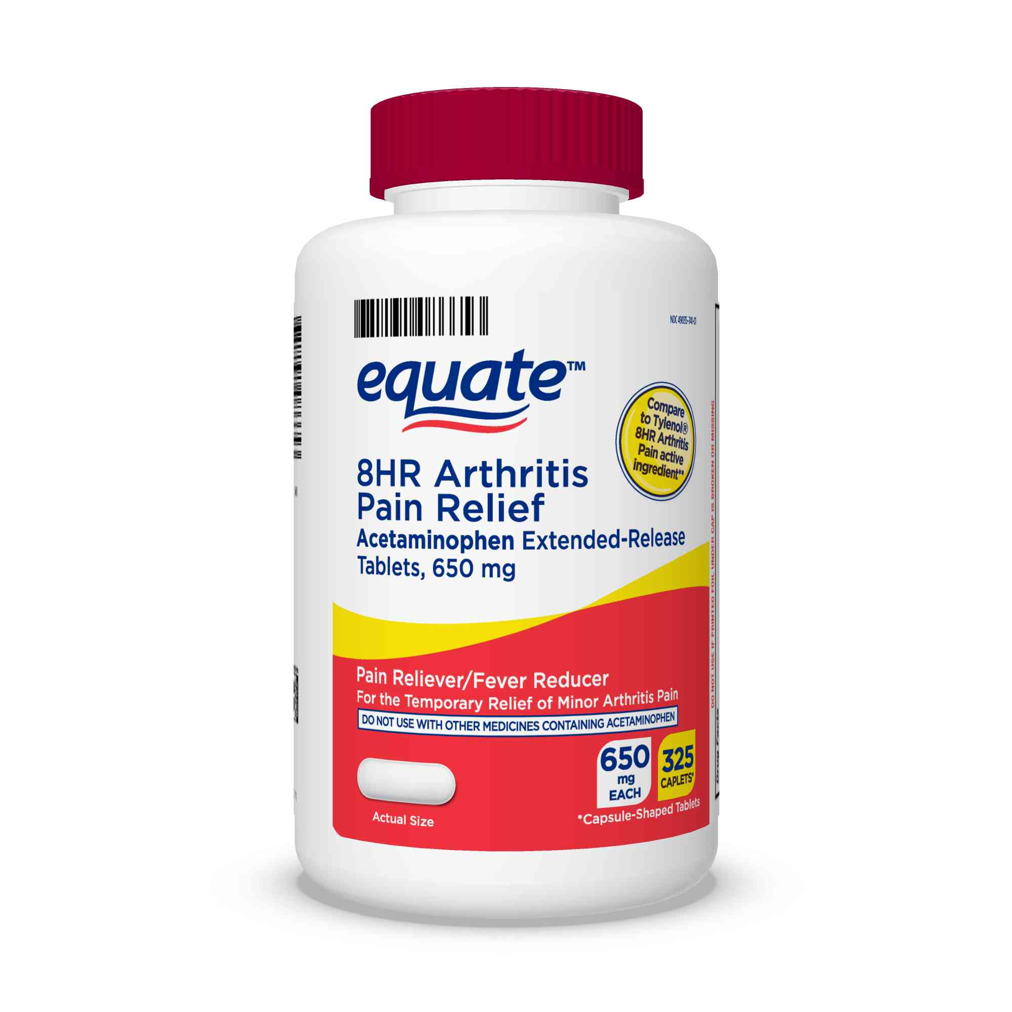 Equate Acetaminophen Extended-Release Tablets 650 mg ...