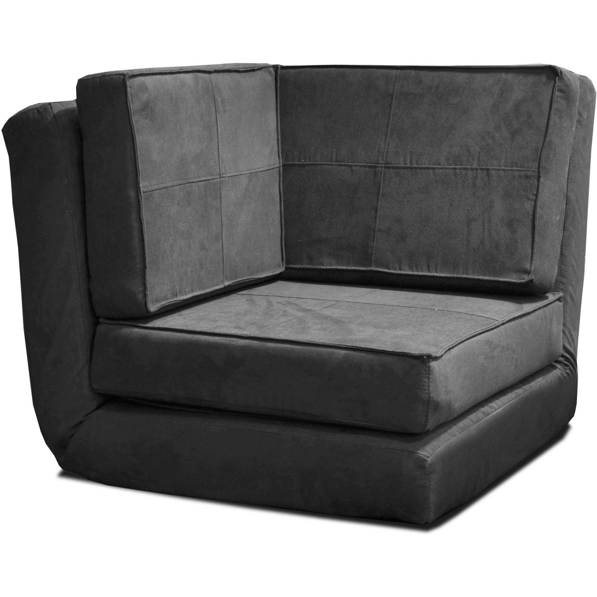 hanging zone chair modern faux leather club flip corner sleeper lounge loveseat black xmas new