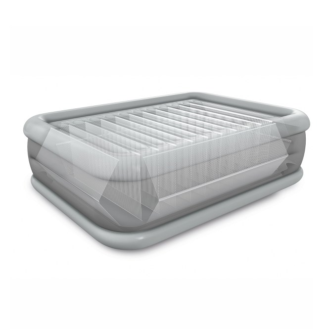 Intex Queen 22 Durabeam High Rise Airbed Mattress With Built In Pump