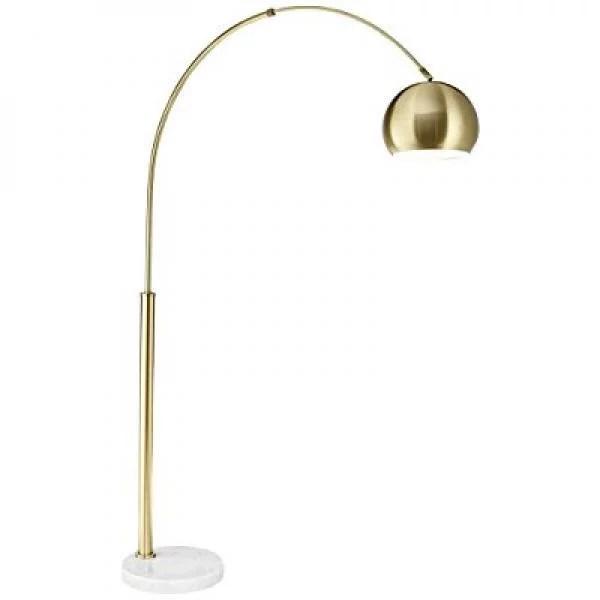 pacific coast lighting basque arc floor lamp in gold