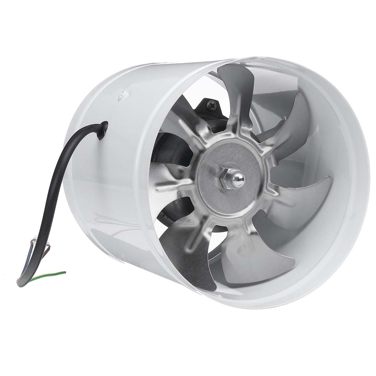 inline duct exhaust fan metal blades air blower cooling vent 6inch walmart com walmart com