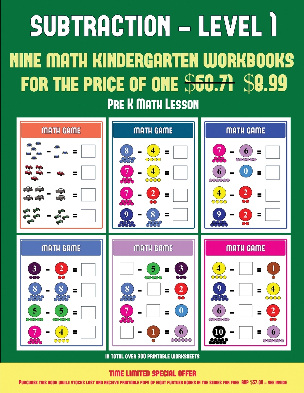 Pre K Math Lesson Kindergarten Subtraction Taking Away