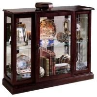Pulaski Curios Display Cabinet in Ridgewood Cherry ...