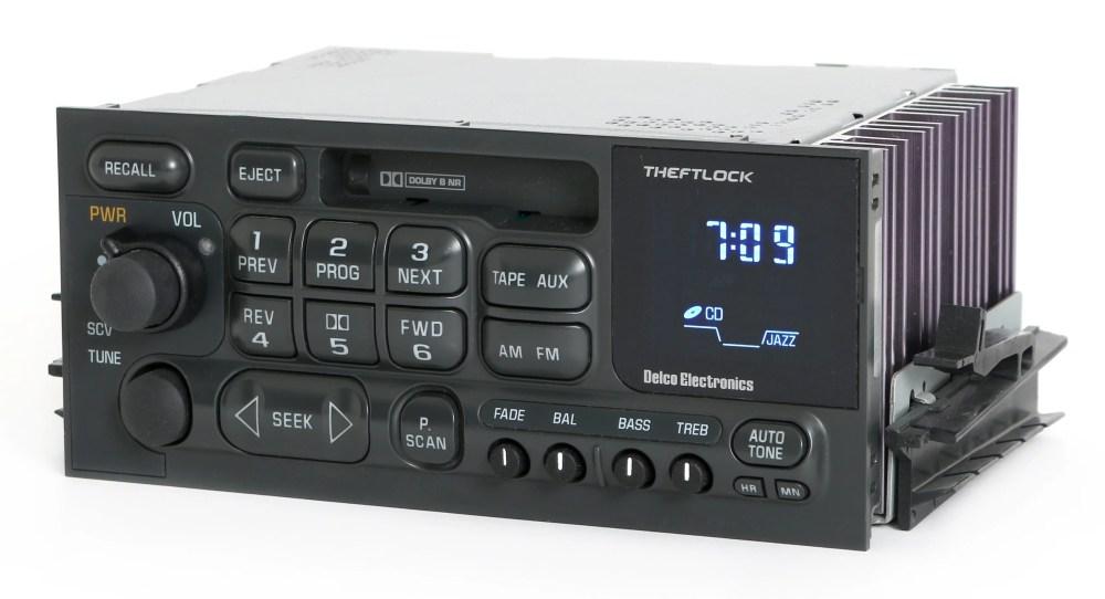 medium resolution of 1995 2002 gmc chevy truck van gm delco radio am fm cassette player wiring diagram for a delco radio model 16179985