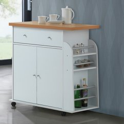 Portable Kitchen Cart Outside Designs Hodedah With Spice Rack Walmart Com