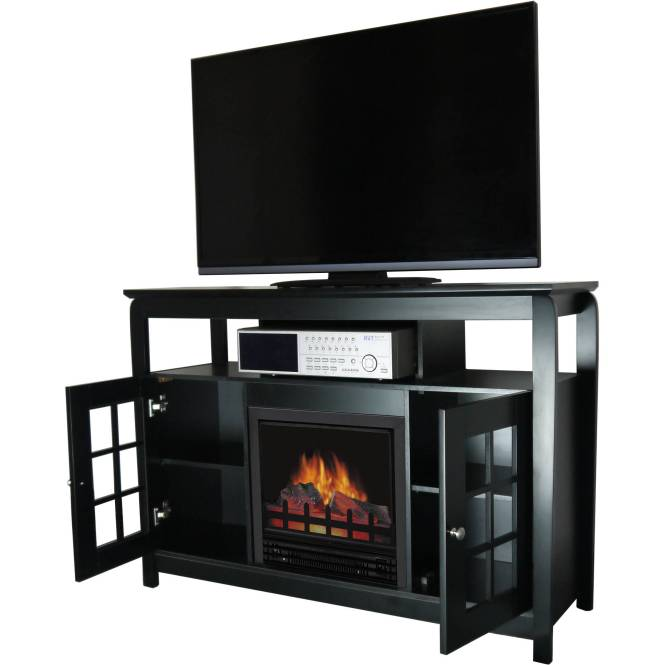 Decor Flame Media Electric Fireplace For Tvs Up To 65 Espresso Middot 259 97