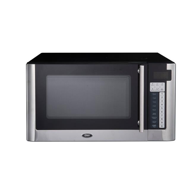 oster ogg61101 1 1 cu ft 1000w digital microwave oven stainless steel black