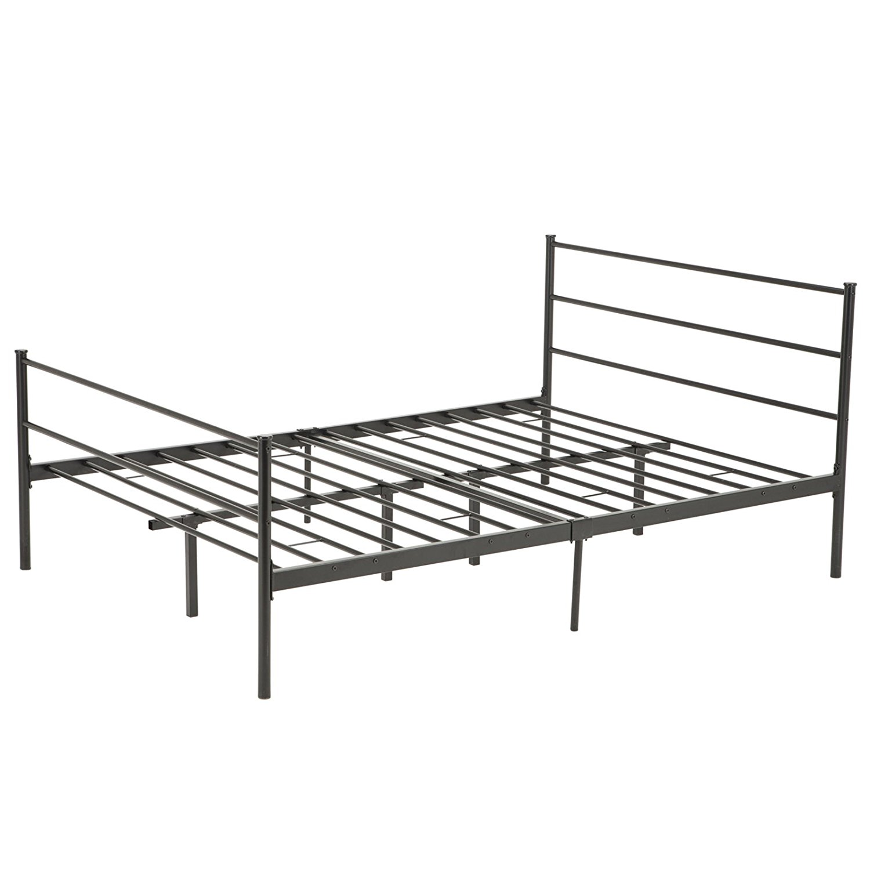 Mecor Metal Bed Frame Platform With Headboard Footboard 10 Legs Furniture Black Multiple Sizes