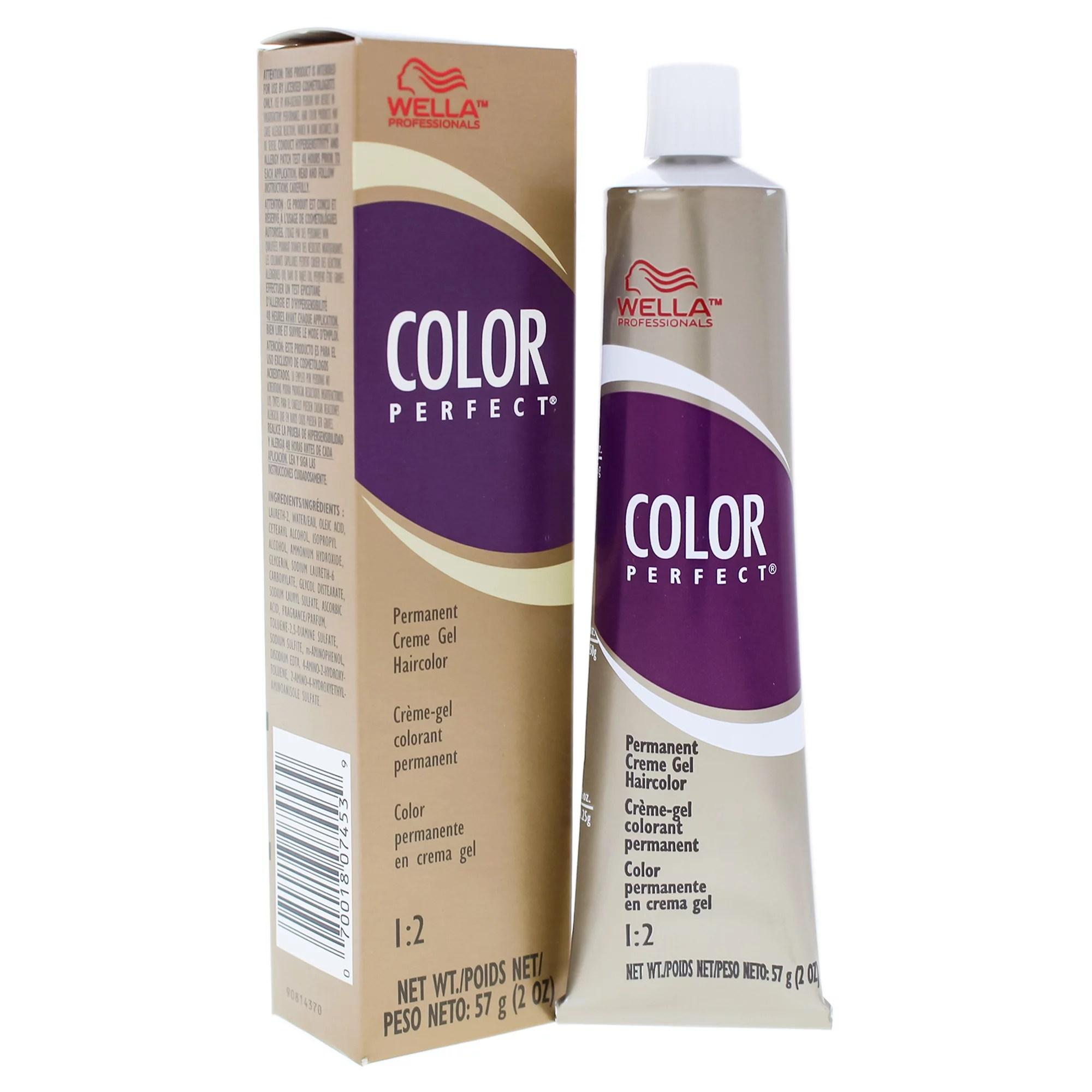 Color Perfect Permanent Cr?me Gel Hair Color – V Violet Modifier by Wella for Unisex – 2 oz Hair Color
