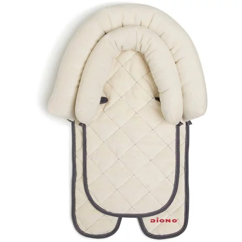 diono 2 in 1 infant head support pillow for car seat or stroller grows with baby ivory