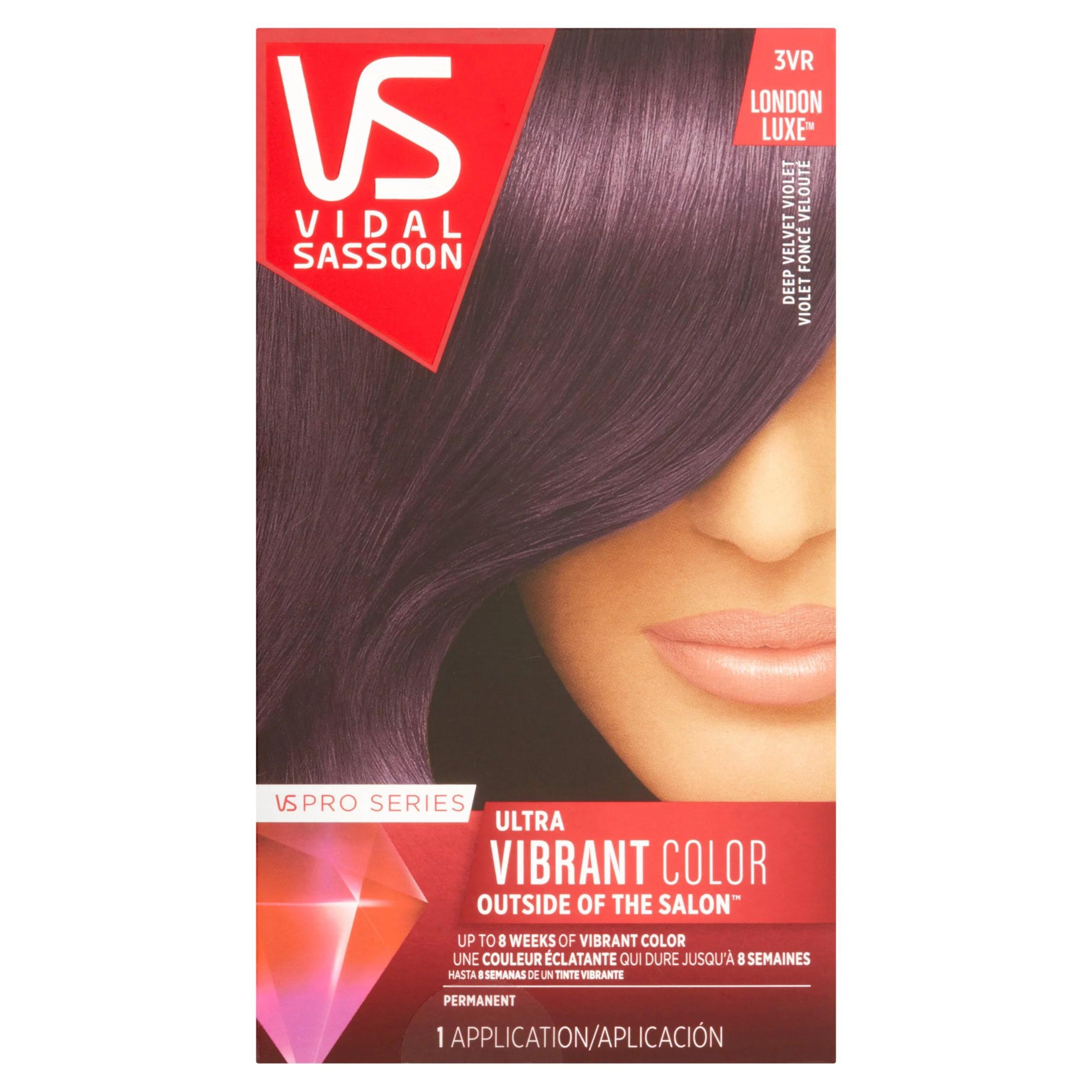 Vidal sassoon pro series ultra vibrant color vr deep velvet violet hair application also rh walmart