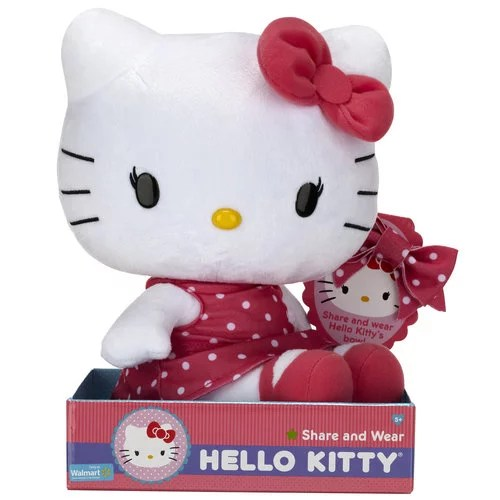 Hello Kitty Pretty In Pink Large Plush Doll Walmart