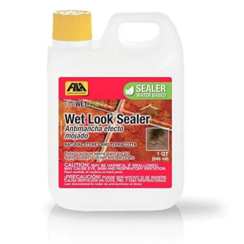 fila wet look eco sealer 1 quart natural stone cleaner and sealer water based sealer tile sealer cleaner eco friendly