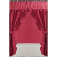 Mainstays Double Swag Shower Curtain, Red - Walmart.com