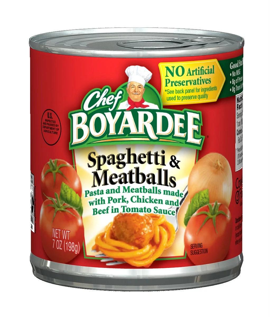 Chef Boyardee Spaghetti Meatballs 7 Oz Walmartcom