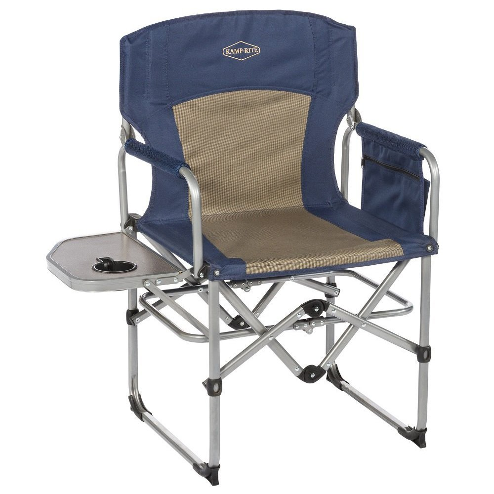 camping chairs with side table ergonomic chair bangalore kamp rite compact folding outdoor directors w 2 pack walmart com