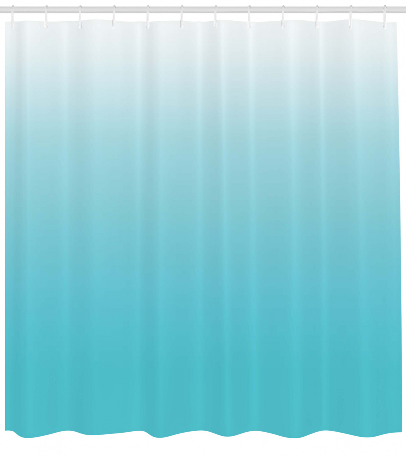 blue ombre shower curtain fade resist