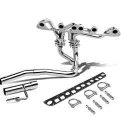 for 91 99 jeep wrangler yj tj 4 0l l6 chrome 4 2 1 tri y performance header exhaust manifold walmart com [ 1200 x 1200 Pixel ]