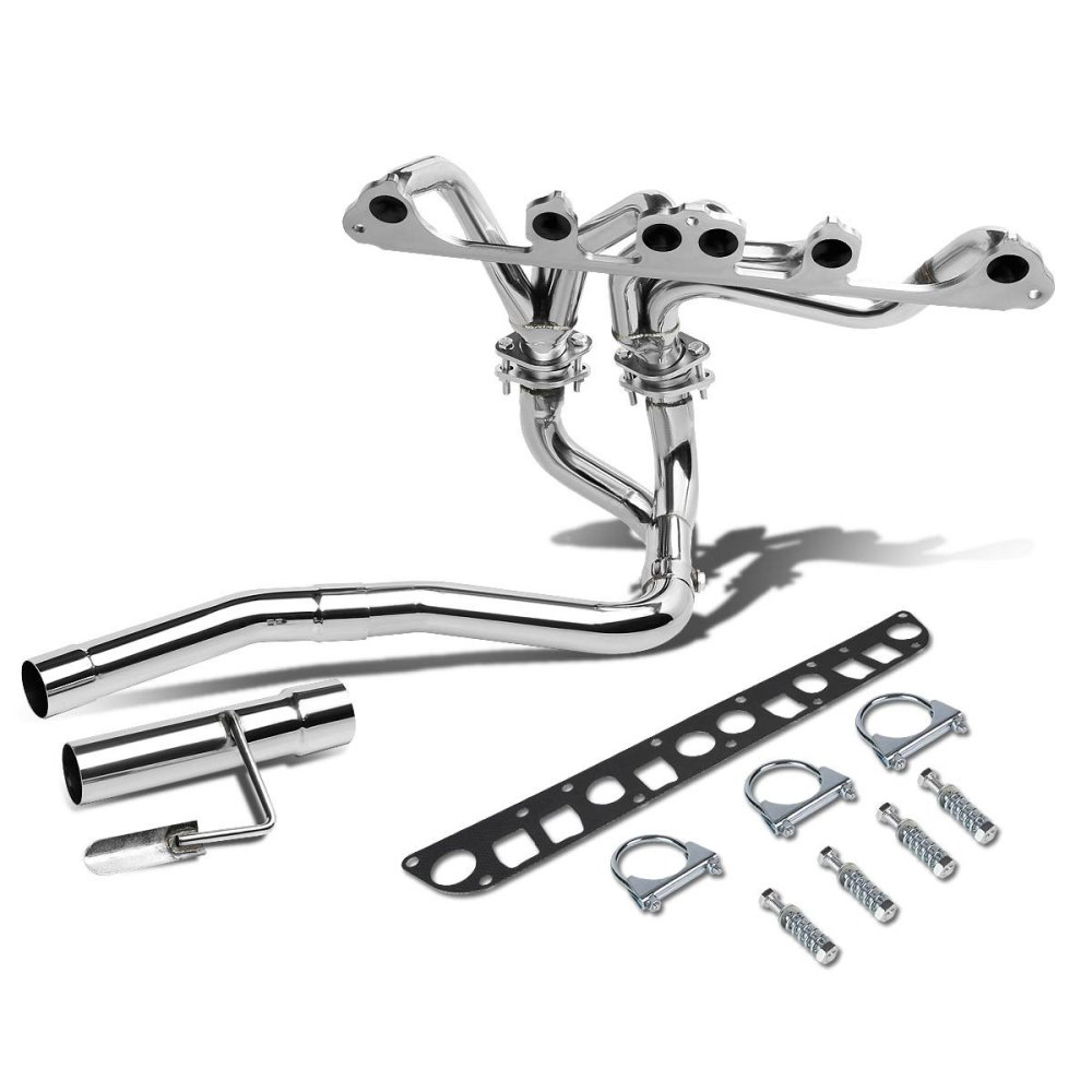 medium resolution of for 91 99 jeep wrangler yj tj 4 0l l6 chrome 4 2 1 tri y performance header exhaust manifold walmart com