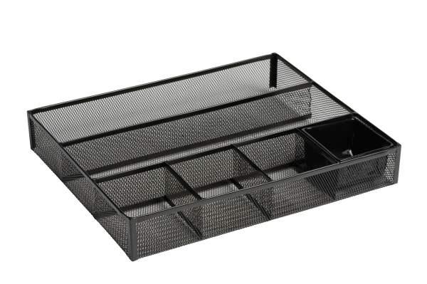 Rolodex Deep Desk Drawer Organizer Metal Mesh Black