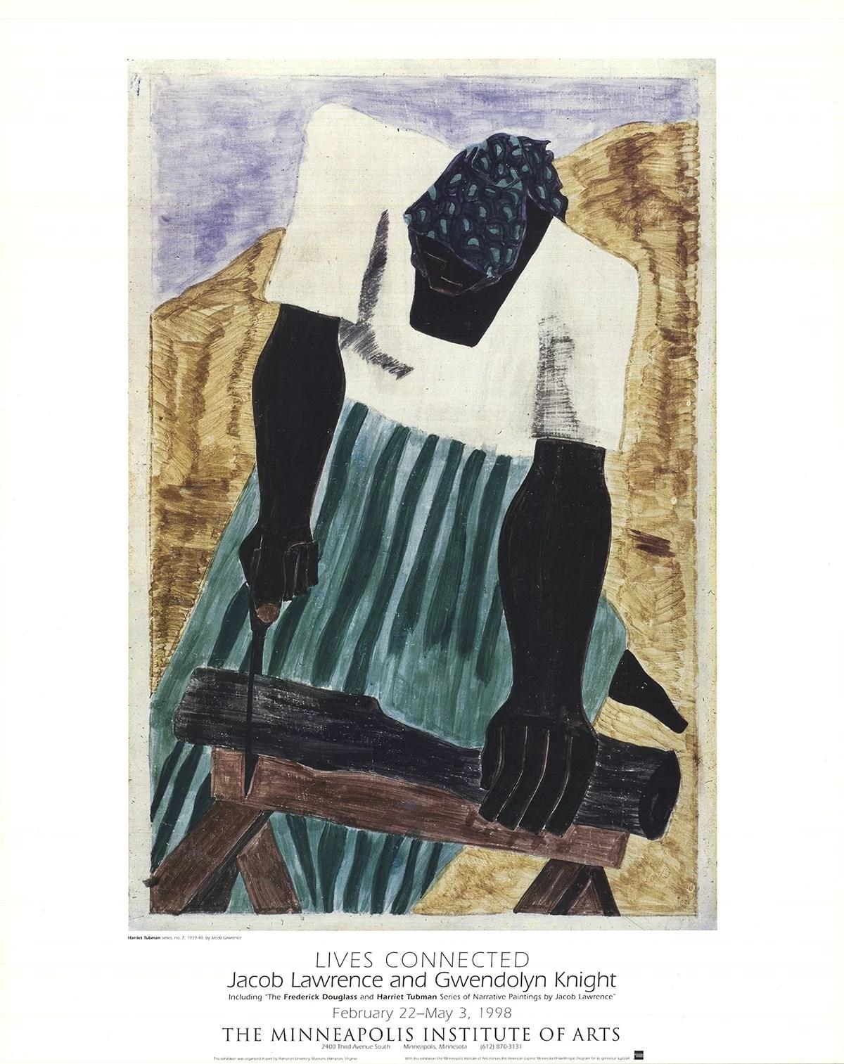 jacob lawrence harriet tubman 1998 poster walmart com