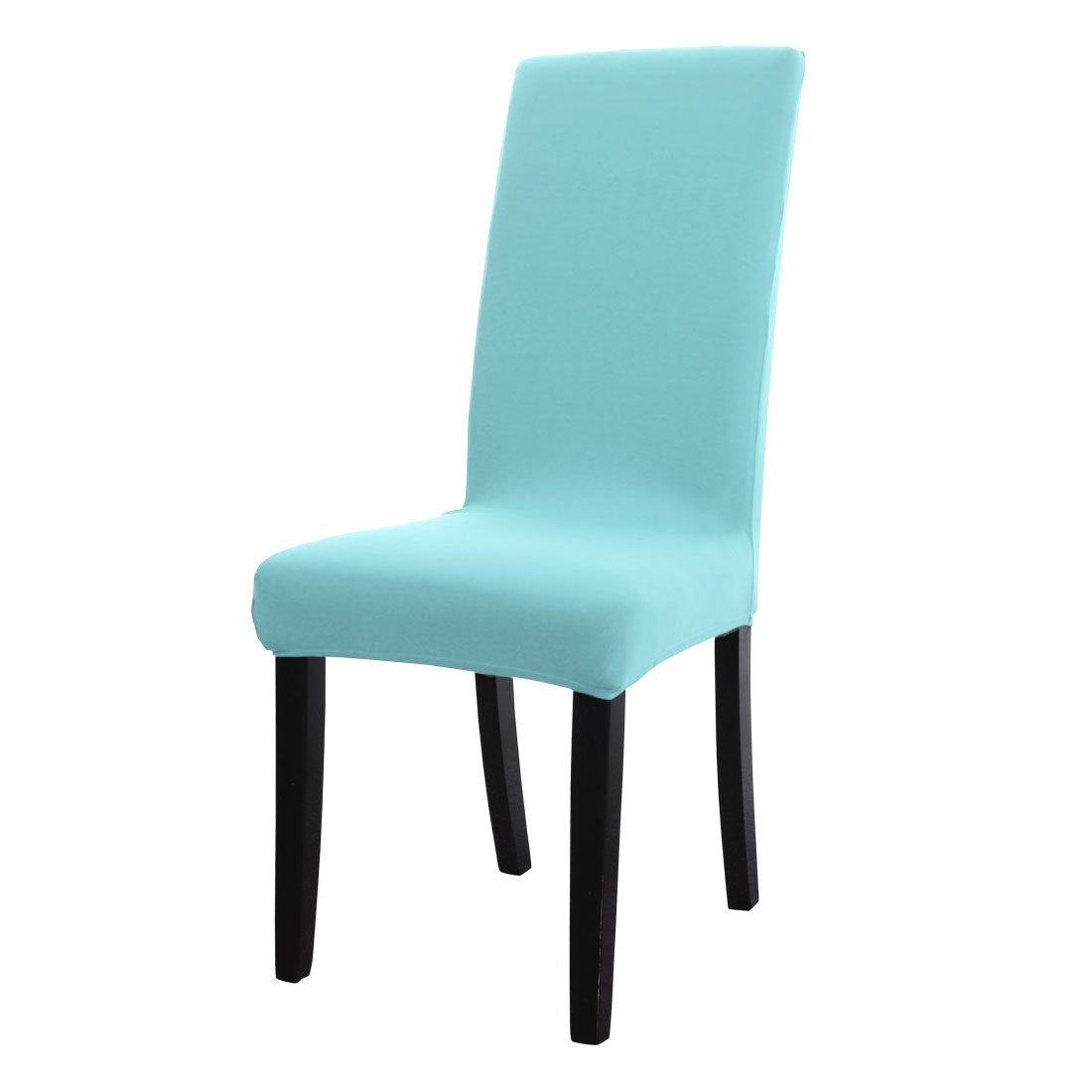 aqua dining room chair covers living diy spandex washable stool cover protector slipcover sky blue walmart com