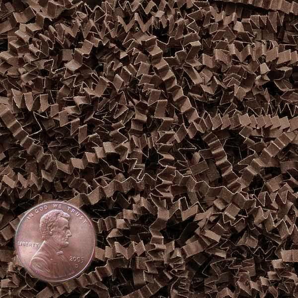 brown crinkle cut paper