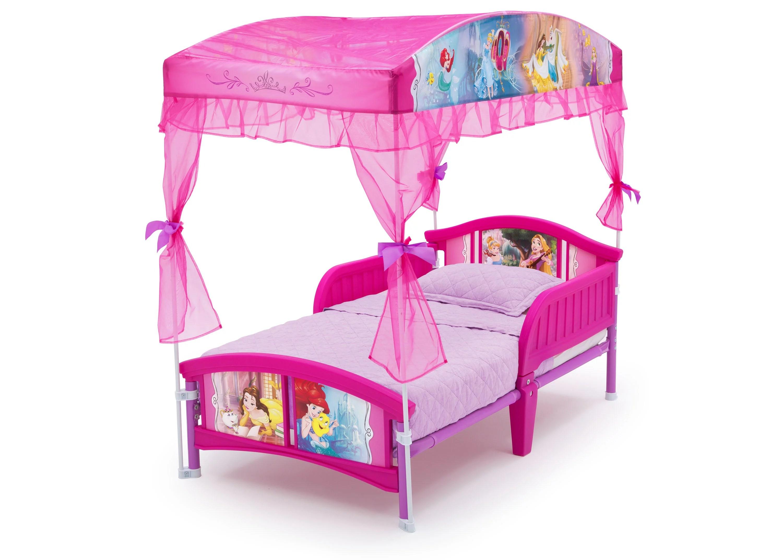 Delta Children Disney Princess Plastic Toddler Canopy Bed Pink Walmart Com Walmart Com