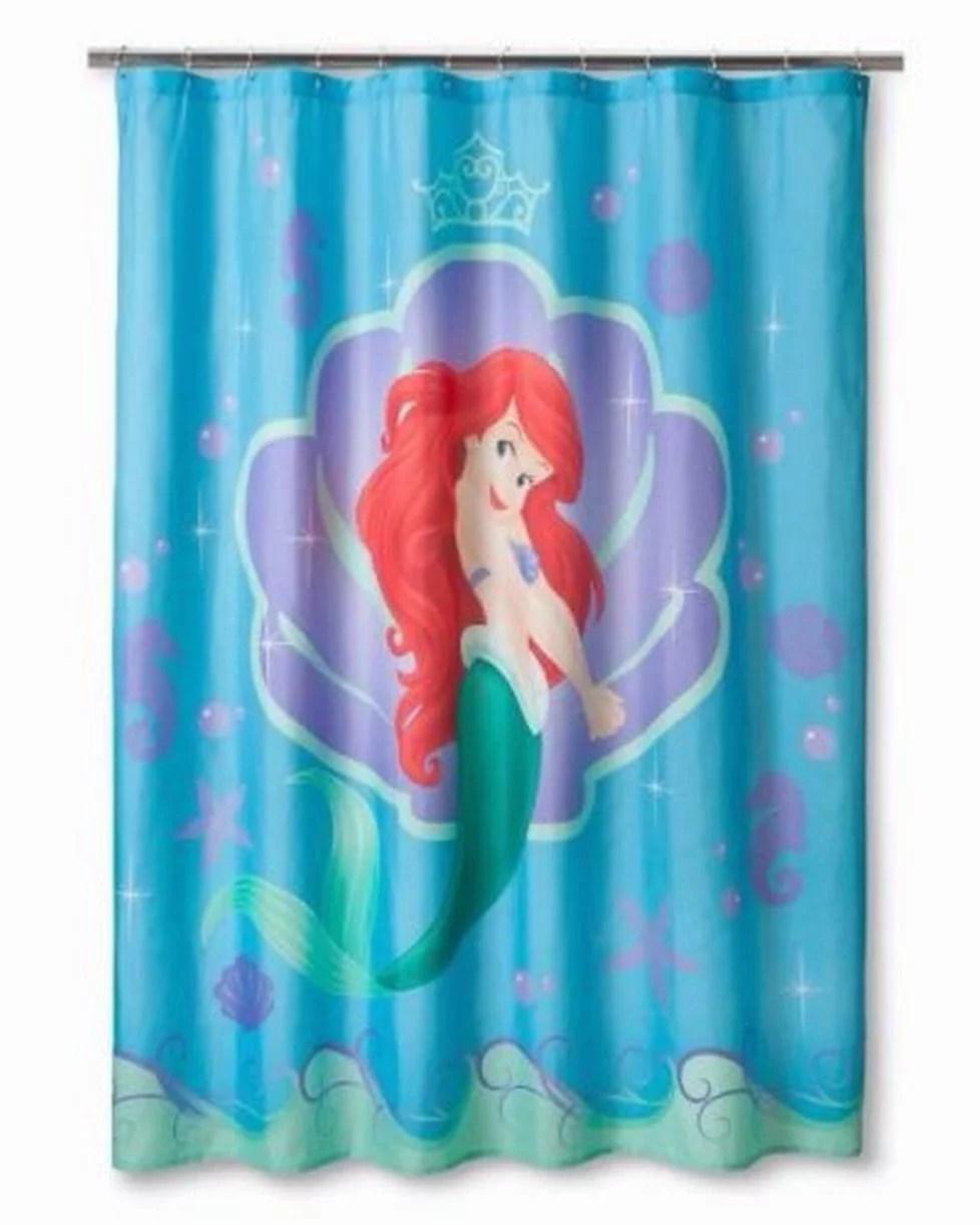 Disney Little Mermaid Shower Curtain Kids Bath Sears