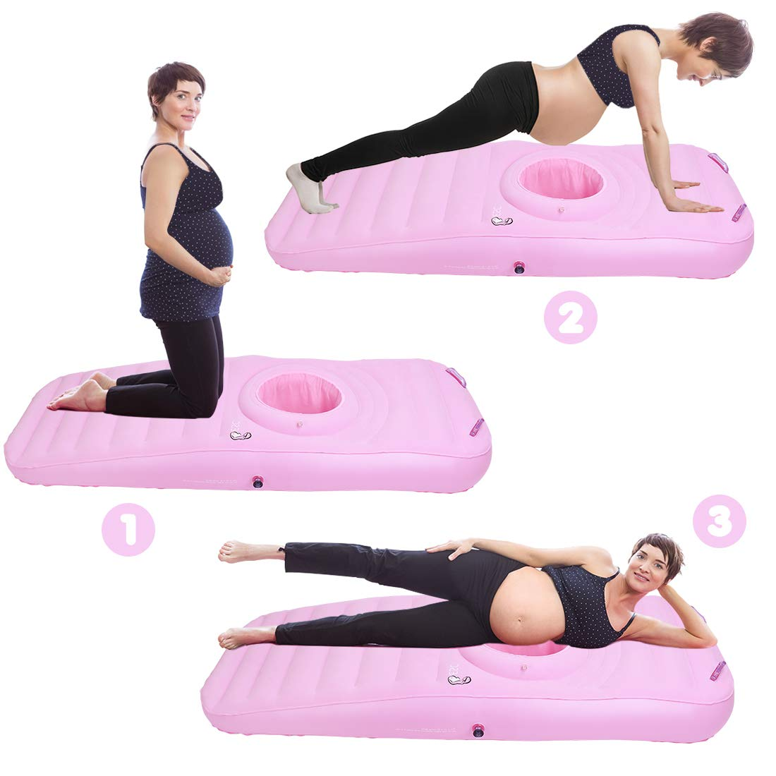 besc inflatable maternity pillow for women pregnancy full body massage pads with hole sleep on stomach relieve pregnant back pain
