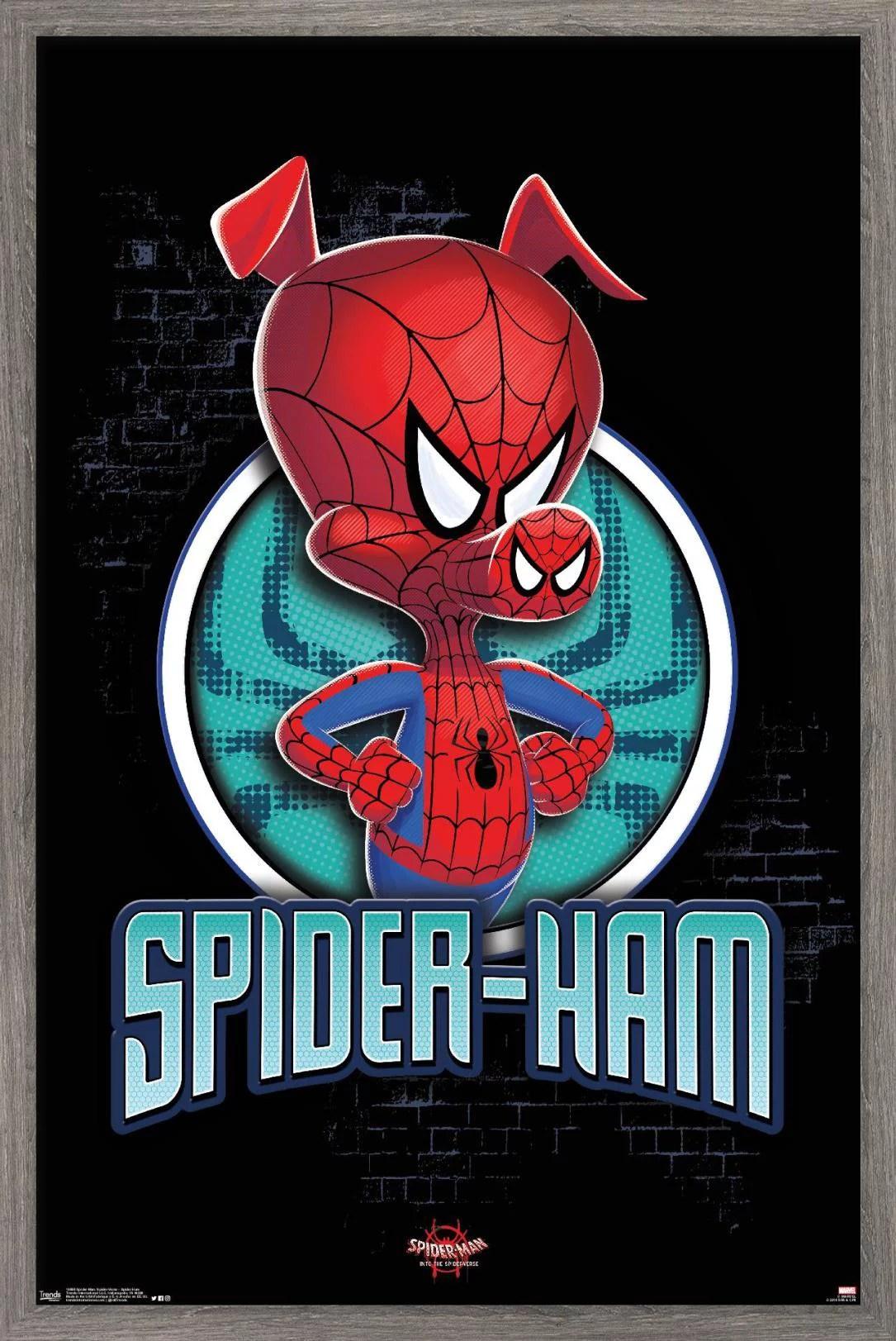 marvel cinematic universe spider man into the spider verse spider ham poster
