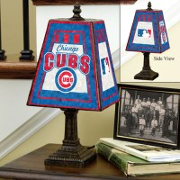 """Chicago Cubs 14.5"""" Art Glass Table Lamp"""