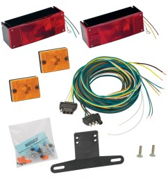 waterproof trailer light kit incl tail and side lamps lic bracket wiring replacement auto part easy to install walmart com [ 1000 x 1000 Pixel ]