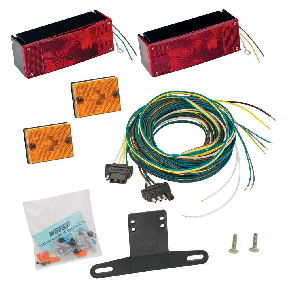 medium resolution of waterproof trailer light kit incl tail and side lamps lic bracket wiring replacement auto part easy to install walmart com