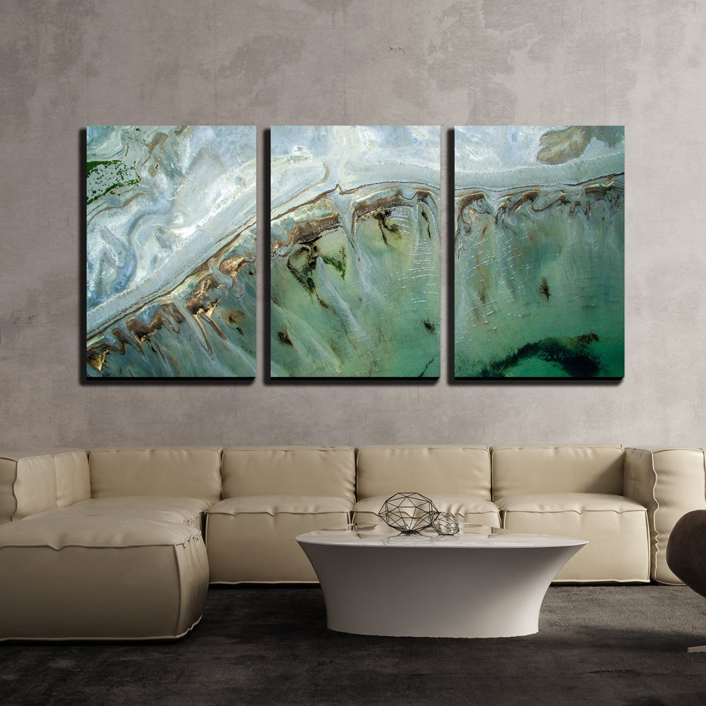 Wall26 3 Piece Canvas Wall Art Turquoise Landscape Of